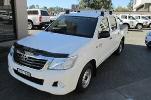 2014 Toyota Hilux GGN15R MY14 SR White 5 Speed Automatic Dual Cab Pick-up