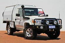 2010 Toyota Landcruiser VDJ79R MY10 GXL White 5 Speed Manual Cab Chassis East Rockingham Rockingham Area Preview