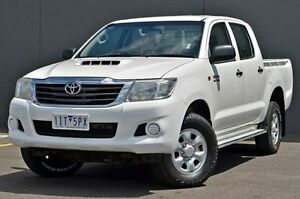 2011 Toyota Hilux KUN26R MY12 SR Double Cab White 5 Speed Manual Utility Cranbourne Casey Area Preview