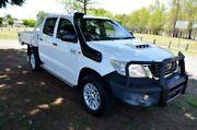 2014 Toyota Hilux KUN26R MY14 SR Double Cab White 5 Speed Automatic Cab Chassis Rockhampton Rockhampton City Preview