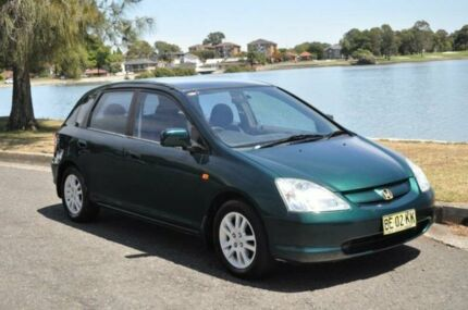 2001 Honda Civic 7TH GEN VI Green 4 Speed Automatic Hatchback