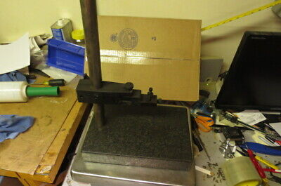 Mitutoyo Granite Check Stand Comparator Base Surface Plate With Mount 8 X 12