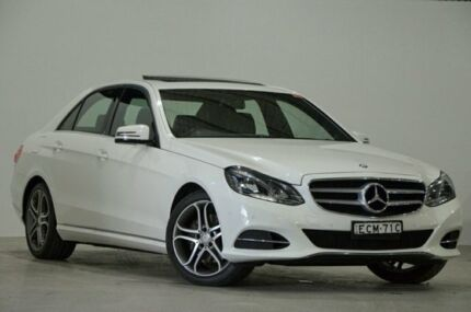 2014 Mercedes-Benz E-Class W212 MY14 White 7 Speed Sports Automatic Sedan Mascot Rockdale Area Preview