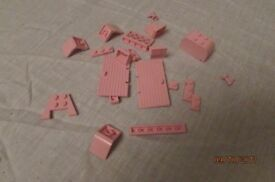 Lego - assorted pink pieces