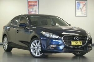 2017 Mazda 3 BN5238 SP25 Deep Crystal Blue Semi Auto Sedan Chatswood Willoughby Area Preview