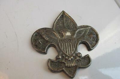Boy Scout BSA Flag Pole Medallion Or Desk Top Medallion Very Heavy Free Ship