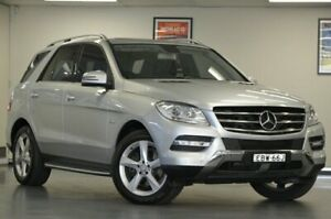 2012 Mercedes-Benz ML250 W166 BlueTEC 7G-Tronic + Silver Semi Auto Wagon Chatswood Willoughby Area Preview