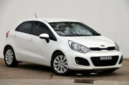 2011 Kia Rio JB MY11 SI White 5 Speed Manual Hatchback