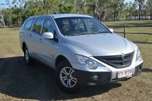 2010 Ssangyong Actyon Sports 100 Series MY08 Sports Silver 6 Speed Automatic Dual Cab Berserker Rockhampton City Preview