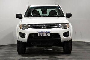 2012 Mitsubishi Triton MN MY13 GLX Double Cab White 4 Speed Sports Automatic Utility Thornlie Gosnells Area Preview
