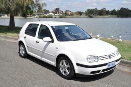 2000 Volkswagen Golf GL Rally White 5 Speed Manual Hatchback