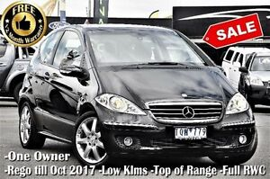 2005 Mercedes-Benz A200 W169 Avantgarde Black 7 Speed Constant Variable Hatchback Ringwood East Maroondah Area Preview
