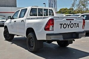 2015 Toyota Hilux GUN125R Workmate Double Cab White 6 Speed Manual Utility Frankston Frankston Area Preview