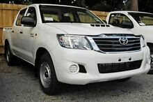 2012 Toyota Hilux KUN16R MY12 SR Double Cab White 5 Speed Manual Utility Upper Ferntree Gully Knox Area Preview