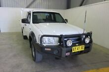 2008 Ford Ranger PJ XL Super Cab White 5 Speed Manual Cab Chassis Orange Area Preview
