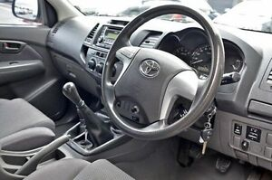 2012 Toyota Hilux White Manual Cab Chassis Cranbourne Casey Area Preview