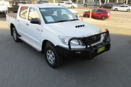 2012 Toyota Hilux KUN26R MY12 SR (4x4) White 5 Speed Manual Dual Cab Pick-up