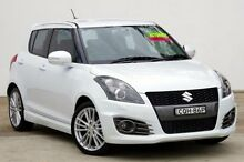 2013 Suzuki Swift FZ Sport White 7 Speed Constant Variable Hatchback Blacktown Blacktown Area Preview