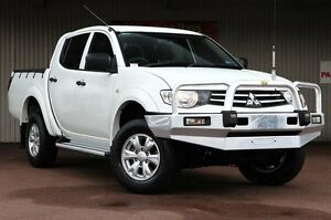 2014 Mitsubishi Triton MN MY15 GLX Double Cab White 4 Speed Sports Automatic Utility Northbridge Perth City Area Preview