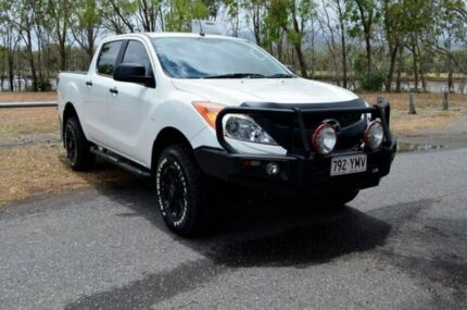 2015 Mazda BT-50 UP0YF1 XT White 6 Speed Manual Utility Rockhampton Rockhampton City Preview