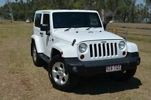 2013 Jeep Wrangler JK MY2013 Overland White 5 Speed Automatic Convertible Berserker Rockhampton City Preview