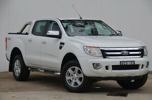 2011 Ford Ranger PX XLT Double Cab White 6 Speed Manual Utility Blacktown Blacktown Area Preview