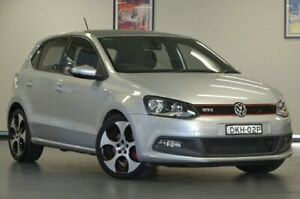 2012 Volkswagen Polo 6R MY12.5 GTi Silver Semi Auto Hatchback Chatswood Willoughby Area Preview