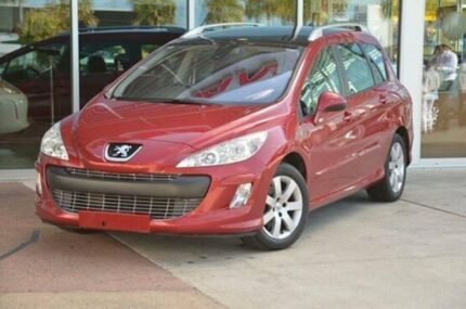 2008 Peugeot 308 T7 XS HDI Touring Red 6 Speed Auto Seq Sportshift Wagon Robina Gold Coast South Preview