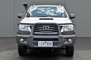 2011 Toyota Hilux White Manual Cab Chassis Cranbourne Casey Area Preview