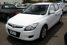 2011 Hyundai i30 FD MY11 SX White 4 Speed Automatic Hatchback Seaford Frankston Area Preview