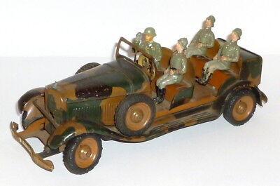 Altes Tippco Auto Dienstauto mit Soldaten 2.WK WH 164 Blechspielzeug Elastolin