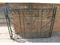One set of cast iron gates - black