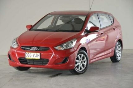 2012 Hyundai Accent RB Active Red 4 Speed Auto Seq Sportshift Hatchback Robina Gold Coast South Preview