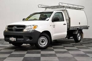 2012 Toyota Hilux KUN26R MY12 Workmate Double Cab White 4 Speed Automatic Utility Thornlie Gosnells Area Preview