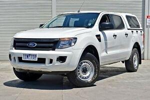 2013 Ford Ranger PX XL Double Cab White 6 Speed Sports Automatic Utility Seaford Frankston Area Preview