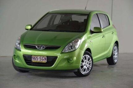 2012 Hyundai i20 PB MY12 Active Green 5 Speed Manual Hatchback Robina Gold Coast South Preview