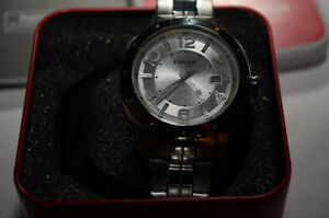 Fossil BNIB Men's Stainless Steel Watch Silver/Gold AM-4205 5ATM