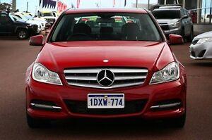2012 Mercedes-Benz C200 W204 MY12 BlueEFFICIENCY 7G-Tronic + Fire Opal 7 Speed Sports Automatic Wangara Wanneroo Area Preview