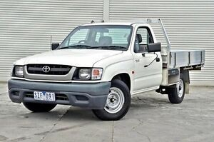 2004 Toyota Hilux RZN149R MY04 White 5 Speed Manual Cab Chassis Seaford Frankston Area Preview