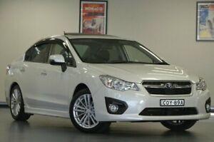 2013 Subaru Impreza G4 MY13 2.0I-S White Sedan Chatswood Willoughby Area Preview