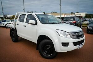2016 Isuzu D-MAX MY15.5 SX Crew Cab White 5 Speed Sports Automatic Cab Chassis Wangara Wanneroo Area Preview