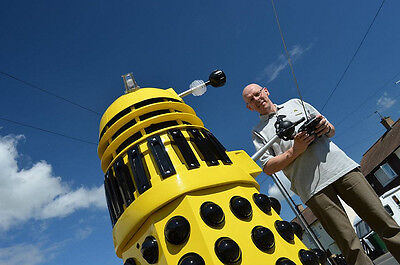 Rob with his prized life-sized Dalek.