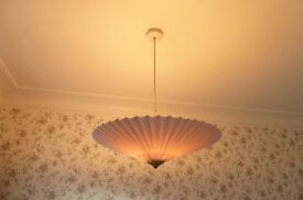 Beautiful uplighter lampshade in neutral pastel colours