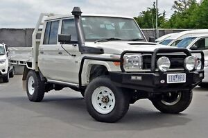 2013 Toyota Landcruiser VDJ79R MY13 Workmate Double Cab White 5 Speed Manual Cab Chassis Frankston Frankston Area Preview
