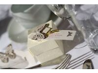 Handmade personal wedding stationery. Invites, menus, centrepieces, chair covers and Venue dressing