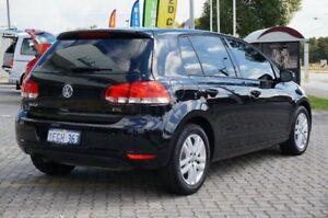 2012 Volkswagen Golf VI MY13 118TSI DSG Comfortline Black 7 Speed Sports Automatic Dual Clutch