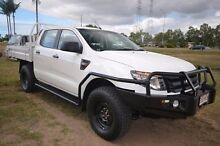 2013 Ford Ranger PX XL Double Cab White 6 Speed Sports Automatic Cab Chassis Vincent Townsville City Preview