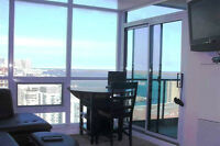 Gorgeous View! Fully Furnished Condo Facing Lake & CNTower