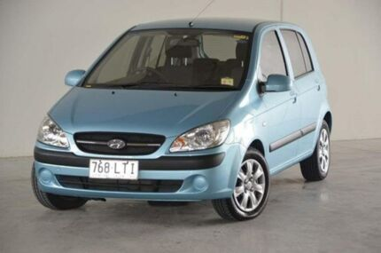 2009 Hyundai Getz TB MY09 S Blue 4 Speed Automatic Hatchback Robina Gold Coast South Preview