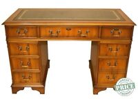Elm wood traditional writing desk